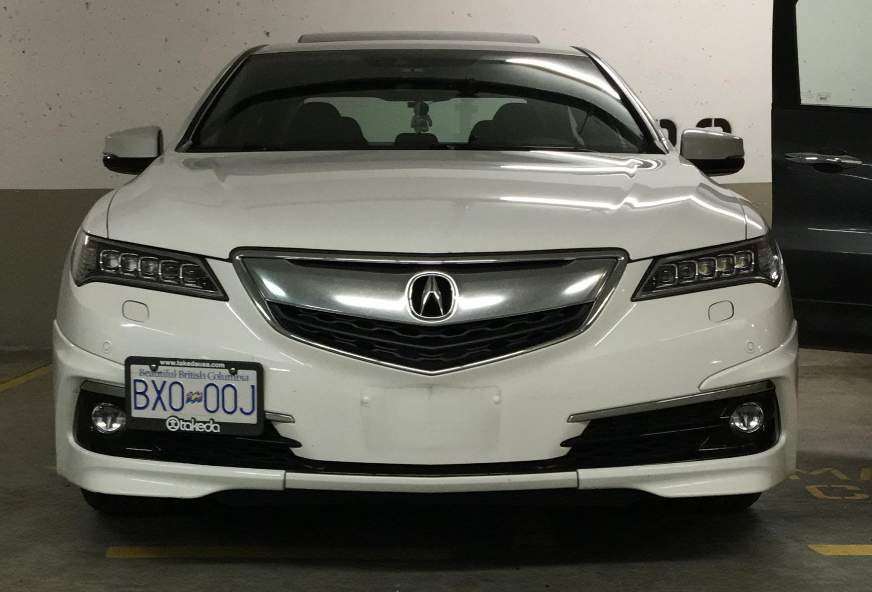 Click image for larger version Name 2016-09-05_21-39-43 ... & DIY: tow hook licence plate bracket - Acura TLX Forum