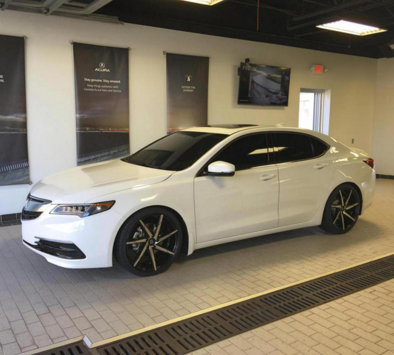 2016 Acura Tlx Lowered On H&R Springs And Lexani Css-7