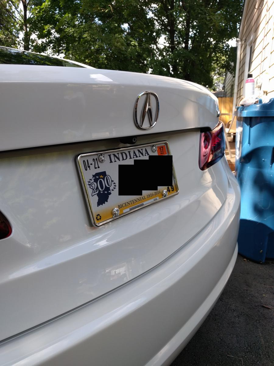 My License Plate Frame OCD - Acura TLX Forum